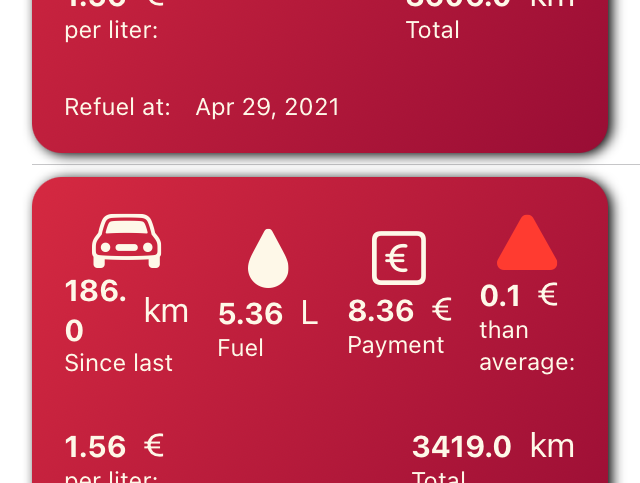 Mileage Tracker Screenshot