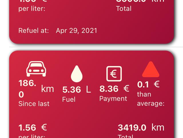 Mileage Tracker Screenshot